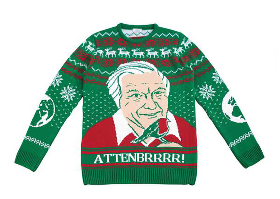 David Attenborough Xmas Jumper