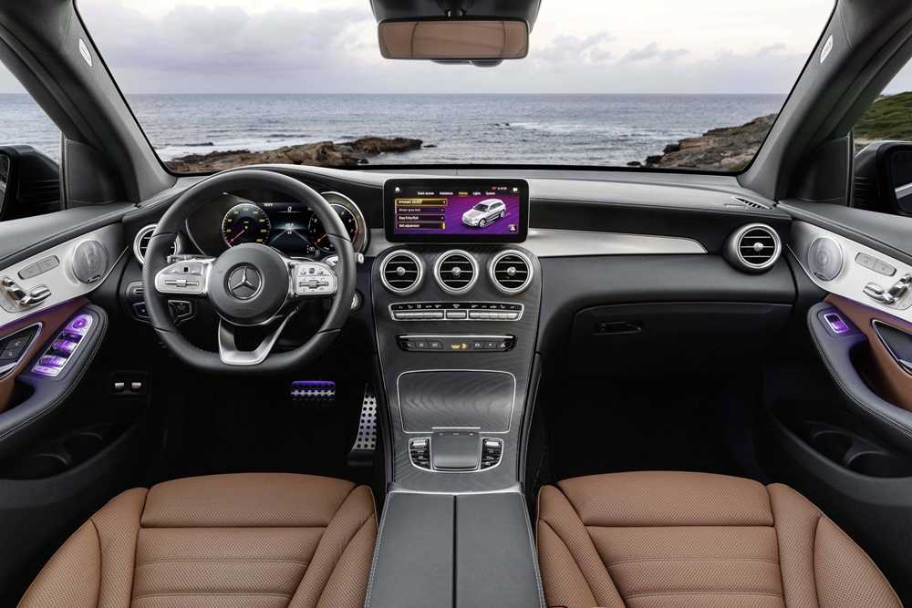 The GLC's upgraded interior is just as nice as you'd expect from the German brand