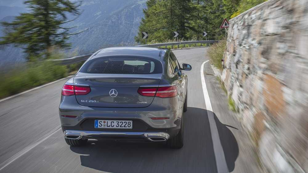 The GLC Coupe has a sportier suspension setup as standard