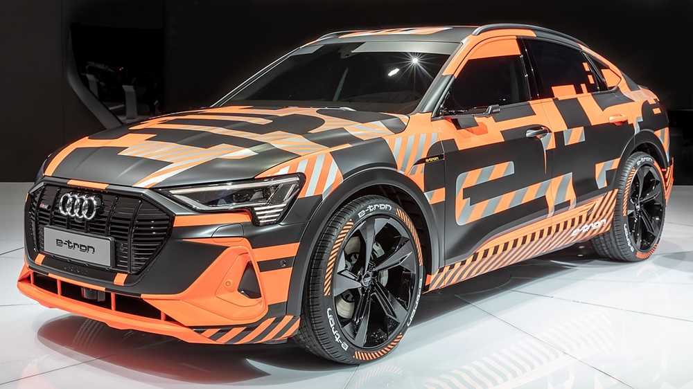 The Audi e-tron Sportback, with its coupe-style body