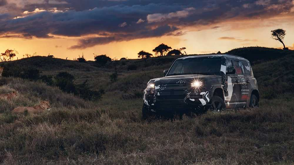 The new Land Rover Defender has been partially obscured so far, ahead of its full reveal later in the year
