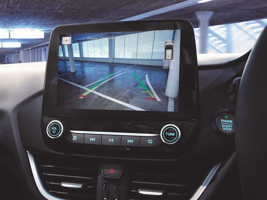 The new Puma's rear-view camera