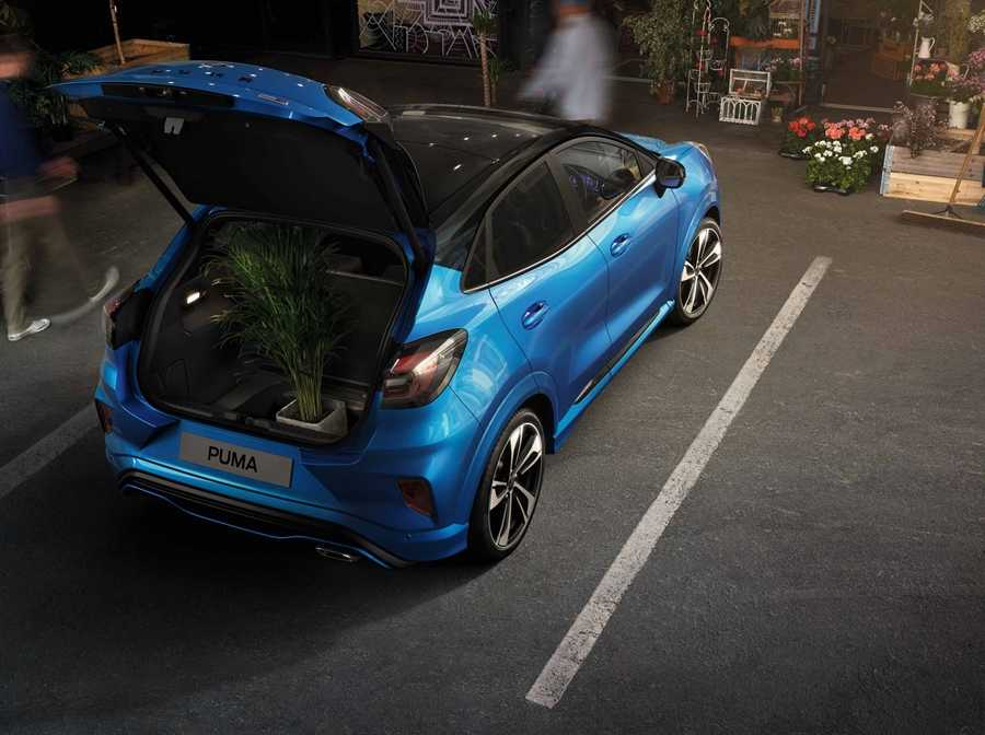 The new Puma's MegaBox, an 80-litre storage space beneath the boot floor