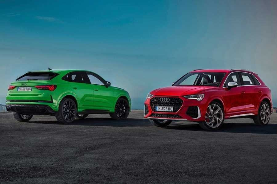 (L-R) The Audi RS Q3 Sportback and RS Q3