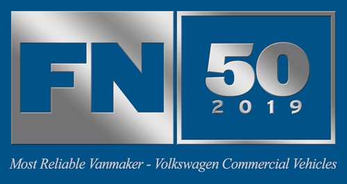 FN50 Award Logo 2019 - Most Reliable Vanmaker - Volkswagen Commercial Vehicles